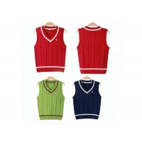 China Kindergarten Sweater Vest School Uniform Sleeveless ODM / OEM Accepted on sale