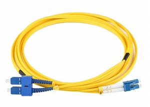 China SC To LC Fibre Optic Patch Leads LSZH 9/125 Yellow Jacket Multiple Sizes Available on sale