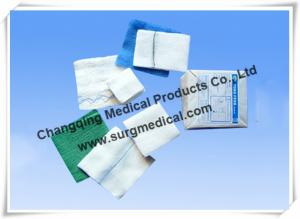 China X-Ray Detectable Gauze Swabs Dressing Pads Green for Hospital Operating Center on sale