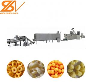China 80kw Corn Puff Making Machine / High Capacity Snack Production Line on sale