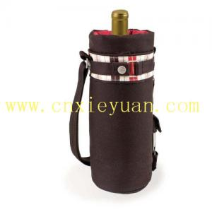 China Picnic Time Insulated Wine Caddy, Grey/Red on sale