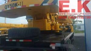 China 2010 XCMG mobile crane truck crane boom crane 50ton hydraulic crane (QY50K) on sale