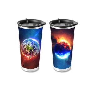 China Custom PP 3D Lenticular Plastic Cup Flip Lenticular Printing 3d Cup For Promotion Gifts wholesale