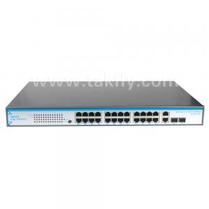 China 24 Port high power poe optical ethernet switch 360W poe switch on sale