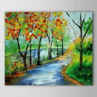 China Bright Landscape Abstract Modern Art Oil Painting For Neo - Classic Style Spaces on sale