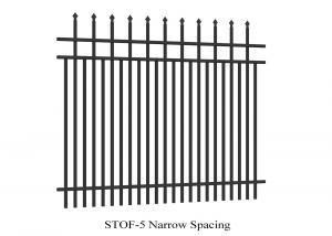 Narrow Spacing Top Crimped Spear Tubular Steel Fence Garrison Brand