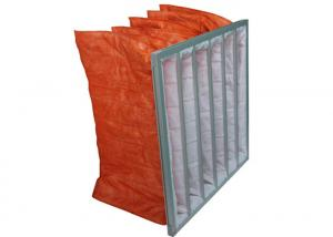 China Synthetic AHU Bag Filter For Air Conditioning In Hospital / Food Industries on sale