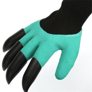 China High Quality 1 pair new Gardening Gloves for garden Digging Planting with 4 ABS Plastic Claws gardening plastic claws gl on sale