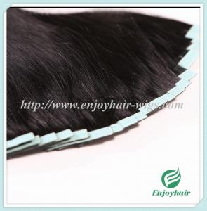 China Tape Hair extension 16-28 100s/pack 1# color Straight malaysian virgin hair on sale