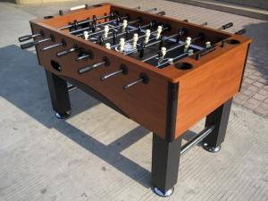 China Wooden Football Game Table ABS Player Steel Rod With 120mm Chrome Leveler on sale