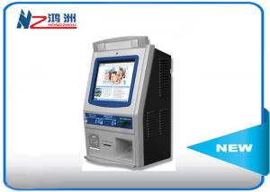 China Wall mounted self service kiosk in hospital with fingerprint reader on sale