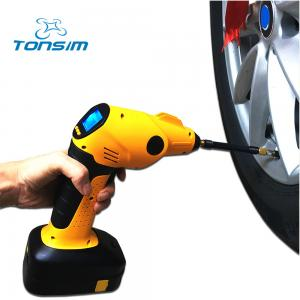 China Rechargeable 12-Volt Hand-Held Air Pump Cordless Tyre Inflator on sale