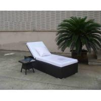 China Outdoor Folding Chaise Lounge , Rattan Wicker Beach Sunlounger on sale