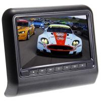 "9"" HD Digital Wireless Backup Camera With Monitor , Headrest Mount DVD Player Auto Entertainment"