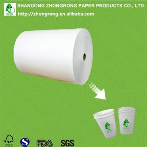 China 100% virgin wood pulp 250+15gsm PE coated paper in roll supplier