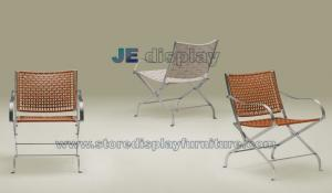 China Retractable modern Casual chair made by Stainless steel frame and Weave fabric on sale