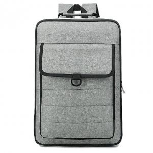 China Gray Polyester Material Canvas Laptop Backpack Multifunction Laptop Bag on sale