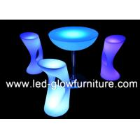 China Illuminated High LED Bar Stool with 2000 - 4400mAh rechargeable Lithium Battery on sale