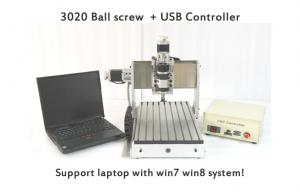 China 3 Axis Laptop Mini CNC Router , Ball Screw CNC Router Machine USB CNC3020B on sale