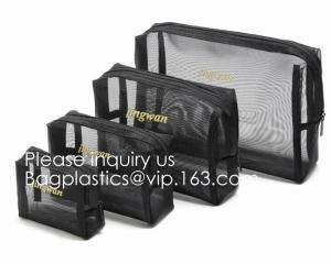 China Mesh Travel Makeup Bag Organizer Translucent Clear Travel Toiletry Bag Quick Pass Airport Security, Airport Security pac on sale
