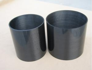 China UD surface roll wrappd carbon fiber tubes tubing pipe with high strength on sale
