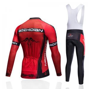 China Colorful Long Sleeve Cycling Jersey , Custom Cycling Apparel Embroidery Logo on sale