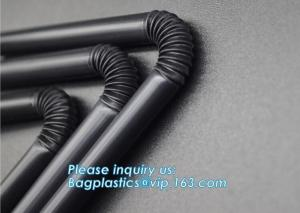 China Eco-friendly biodegradable plastic drinking PLA straw PLA biodegradable disposable heat resistance drinking straw bageas on sale