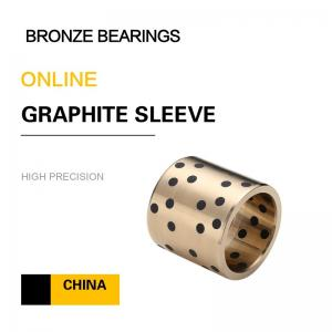 China Metric Bushings CuAl10Fe5Ni5 EN Casting Copper Alloy Bronze Sleeve Bearings Graphite Standard European Size on sale