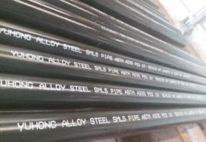 China Alloy Steel Seamless Pipe ASTM A335 P22 P11 P9 P91 WITH Black or Varnish Coating Bevelled End on sale