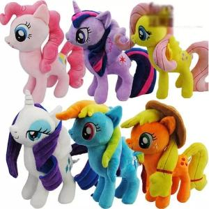 China 8 inch Cute and Lovely Cartoon Plush Toys My Little Pony  Family Collection Plush Toys on sale