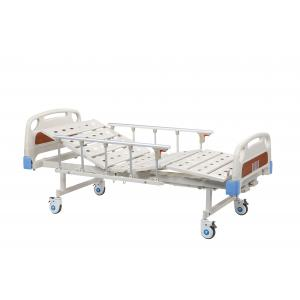 Movable Hospital Patient Bed Double Function , ABS Head Power Hospital Bed