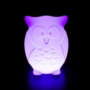China Owl Shape Animal LED Night Light Illuminated Rechargeable LED Decorative Lights on sale