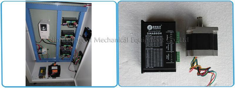 86BYGH450B stepper motor & Leadshine DMA860H stepper driver & Sunfar inverter