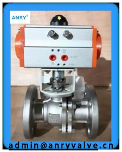 China Teflon - Lined Differential Pressure Control Valve PTFE Lined Seats Pneumatic Actuated Ball Valve on sale