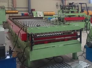 China PLC Controlled Metal Roof Roll Forming Machine , Corrugated Sheet Roll Forming Machine on sale
