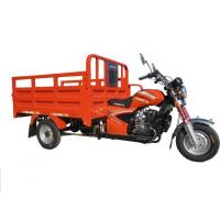 China Red Chinese Three Wheel Motorcycle , Cargo Motorized Tricycle Single Cylinder Engine on sale