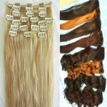 pinza de pelo remy del 100% en las extensiones del pelo para el afroamericano