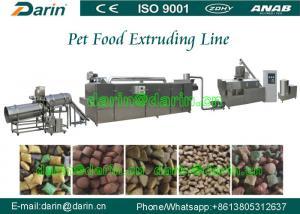 China Dog / bird / fish pet Pet Food Extruder Production Line 800-1000kg/hr 200kw on sale