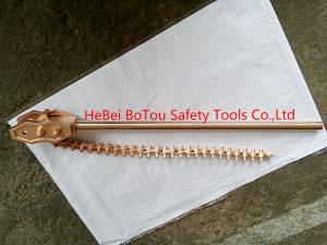 China Non Sparking Safety Tools Chain Pipe Wrench 36 By Copper Beryllium FM Certificate on sale