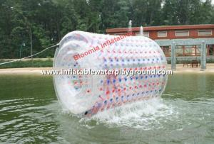 China Transparent PVC Inflatable Water Roller / Aqua Roller On Lake on sale