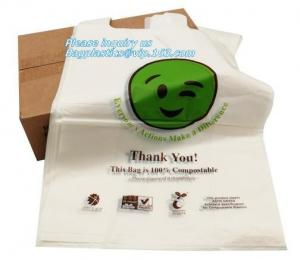 China biodegradable packing bags, Biobag Compostable T-Shirt Bag, Compostable t-shirt bag, degradable bag manufacturer vest ca on sale