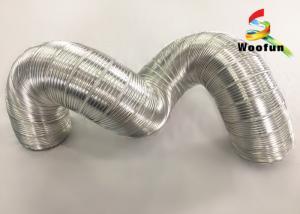 China Ventilation System Semi Rigid Aluminum Duct Aluminum Flexible Air Conditioning Duct on sale