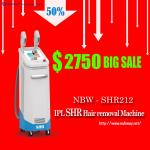 Newly-launched SHR! The Most Featured 2-handles SHR Hair Removal Device Vertical/White