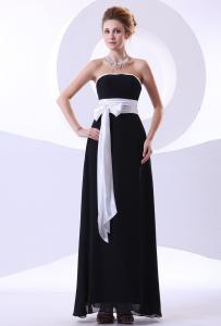 China Hot 2013 Summer Chiffon Womens Party Dresses Bow with Strapless / Zipper Design on sale