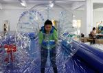 Giant Human Football / Soccer Inflatable Bubble Ball TPU / PVC Material