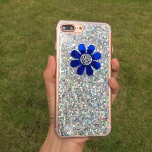 China TPU DIY Sunflower Pasted Glitter Shine Back Cover Cell Phone Case For iPhone 7 6s Plus on sale