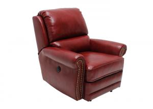 China Oversized Red Leather Motion Recliner Chair Entertainment Room With Cup Holder on sale
