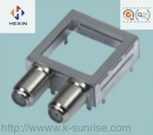 China rf connector with metal shield case for set top box on sale