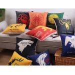 The Game of Thrones cushion,badge printed cushion,film and TV cushion,cotton linen cushion