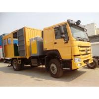 Sinotruck 4 x 2 266HP Mobile Workshop Truck With Repair Tools Yellow
